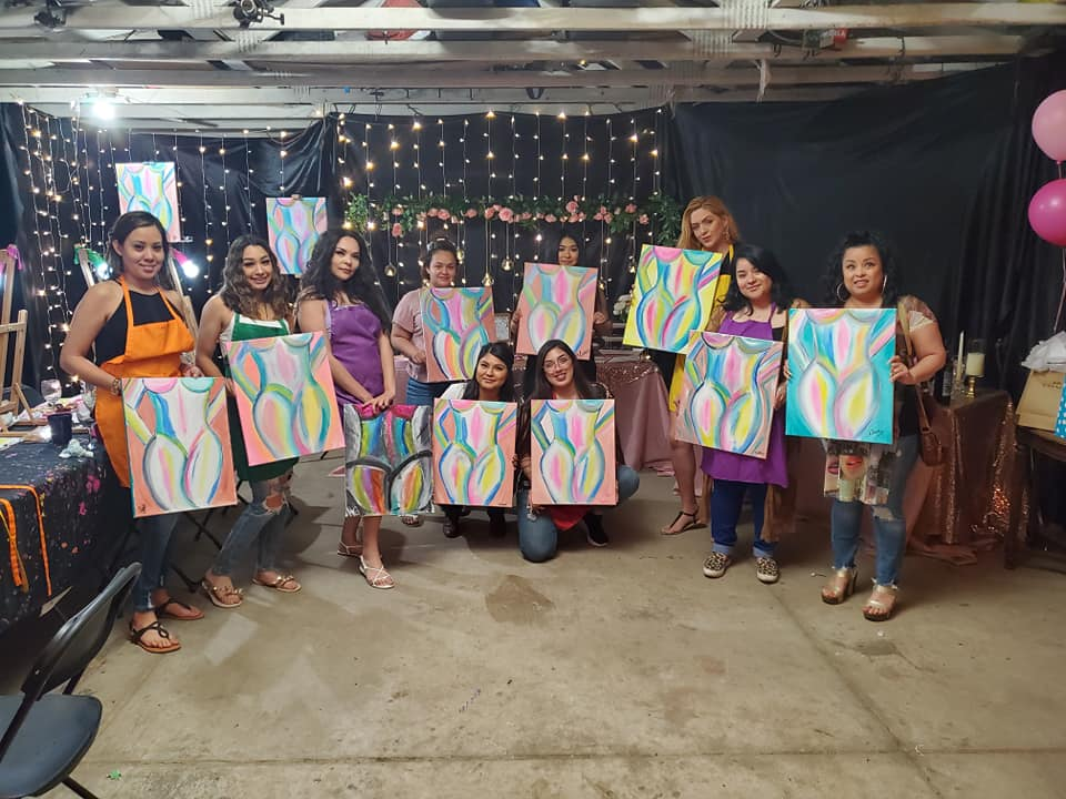 Bachelorette Paint Party Fun