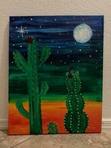 Nighttime Desert Painting