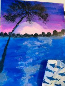 Evening Palm Tree Canvas