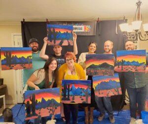 Surprise Birthday Paint Party crew
