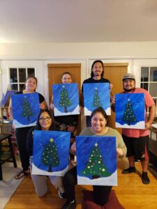 Christmas virtual paint party