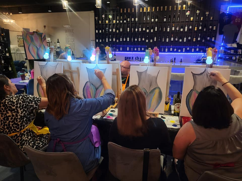 Public Sip and Paint Event at Peacock Wine Bar